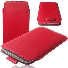 MX Slim Cover Case Schutz Hülle Etui Pull Tab Tasche für Landvo V3G ROT