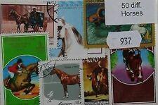 Timbres sur le règne animal sur chevaux