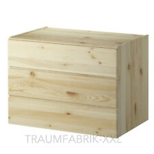 bois massif Commode avec 3 tiroirs pin Armoire Garde-Robe IKEA Ivar Neuf