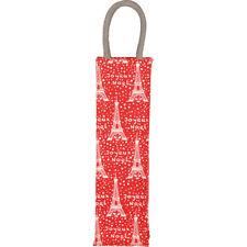 Wine Bottle Bag - Fabric - Joyeux Noel/Eiffel Tower Design- Festive & Functional