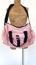 Ralph Lauren Gym Back Overnight Signature LOGO Pink Womens Handbag Shoulder Bag