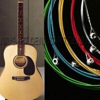 6X 1m Stahlsaiten Gitarrensaiten für Westerngitarre Gitarre Akustikgitarren