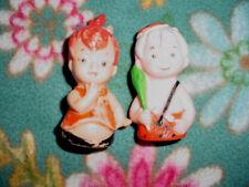 "Vtg-3""-Hanna Barbera-1972-70s-Flinston es Pebbles Plastic Finger Puppet Toy Doll"