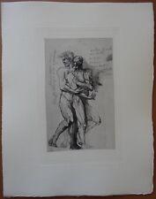 "Auguste RODIN : ""Etude pour Dante"" # GRAVURE ORIGINALE # 1897 # 32*25cm"