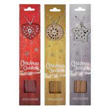 CHRISTMAS INCENSE STICKS WITH HOLDERS RED SILVER OR GOLD