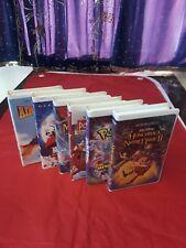Walt Disney's VHS Movies Set of 5 Disney and 1 Pokemon Movie
