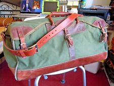 Vintage GOKEYS ORVIS Canvas & Leather Hunting/Travel Duffle Bag Battenkill  4