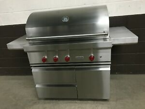 """Wolf OG42 - 42"""" Outdoor Built-In Natural Gas Grill With Cart                 # 2"""