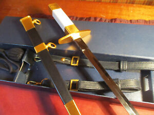FRENCH Air Force Officers ceremonial dagger DUMAS 1995 in original box, Mint