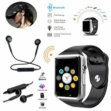 Smart Watch Bluetooth GSM SIM Wireless Headset For iPhone Samsung HTC LG Huawei