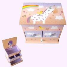 GORGEOUS Musical Jewellery Box Unicorn Birthday Music Kids Girl's Gift