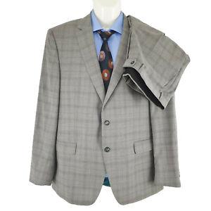 Digel Reda Men's 2 Pieces Suit Grey Striped Wool Super 110 Size AU/UK 44S SU34