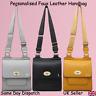 Personalised Ladies Faux Pu Leather Cross Body Messenger Bag Women Tote Satchel