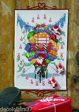 Permin 34-4619 Kalender de l'Avent Santa im Fahrrad