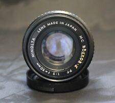 Minolta MC Rokkor-X PF 1:2 f=50 mm mount lenses