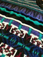 Vintage 90s BIGGIE Knit Sweater Coogi HIP HOP XL 3D Textured SHIRT Vaporwave