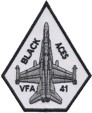 US Navy VFA-41 Strike Fighter Squadron Hornet Embroidered Patch ** LAST FEW **