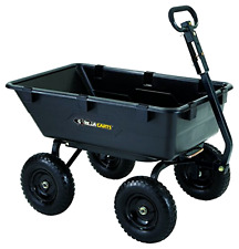 Lawn Tractor Dump Cart Garden Wagons Lawn Mower Utility Wheelbarrow Trailer .