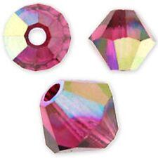 Swarovski Crystal Bicone. Ruby AB Color. 4mm. Approx. 144 PCS. 5328