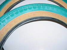 BICYCLE TIRES BLUE 16 X 1.75 CARLISLE USA VINTAGE NOS FIT MANY BIKES