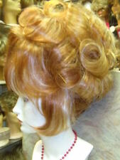 SIN CITY WIGS ELEGANT UP DO PERFECT SET CURLS ELEGANT BANGS RED BLONDE HIGHLIGHT
