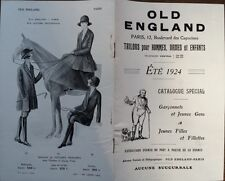 """CATALOGUE MODE """" OLD ENGLAND """" SPECIAL GARCONNETS ET JEUNES FILLES"""