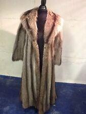 Mint Full Length  Raccoon Coat