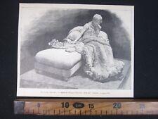 1892 ULTIMI FIORI STATUA DI FILIPPO CIFARIELLO ARTE ANTICA STAMPA PRINT D517