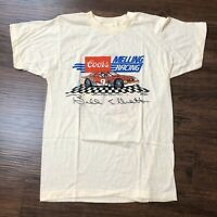 VTG 80s Screen Stars T Shirt Sz S/M Bill Elliott Double Sided Single Stitch Soft