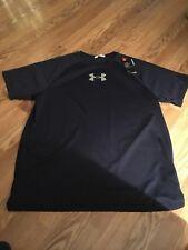 New Men's Navy XL Under Armour Heatgear FItted T-shirt 1294135