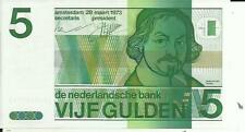 NETHERLANDS 5 GULDEN 1973  P 95. XF+ CONDITION. 4RW 25ABRIL