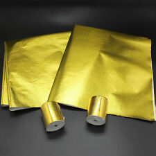 2 Pieces Gold Reflective Sheet For Car Firewall Hood Heat Shield Engine Barrier