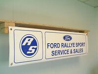 Ford Rallye Sport Banner RS car show Garage pvc sign
