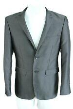 BRAVEMAN dark grey formal button-up men suit blazer jacket size EU L