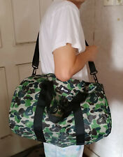 NEW A Bathing Ape BAPE CAMO Cross-Body Big Duffle Travel Bag from Japan Magazine