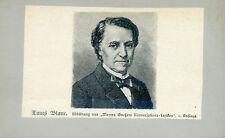 Wunderschönes altes CDV Porträt Louis Blanc Meyers Großes Konversations-Lexikon