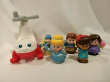 Little People Fisher Price Mixed Lot 5 x People + Helicopter Includes Cinderella
