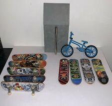 Tech Deck Ramp Tony Hawk Circuit Board Skateboards Lot of 9 Fingerboards 1 BMX
