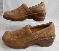 boc Born Concept Womens Clogs Shoes Sz 7.5 M Leather Slip On Multi-Color Browns