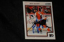 MAX TALBOT 2012-13 PANINI SCORE SIGNED AUTOGRAPHED CARD #354 FLYERS