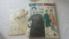 VTG VOGUE PARIS ORIGINAL PATTERN 1209 PARTIAL CUT COMPLETE JACQUES GRIFFE SZ 12
