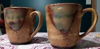 Vintage Coffee Mug Set SANGO SPLASH Cups Mother of Pea effect gorgous Art Deco