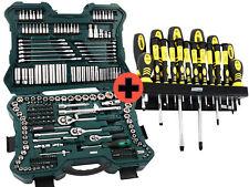 Mannesmann Werkzeugkasten Nusskasten 215 tlg + Schraubendrehersatz 18tlg M98430
