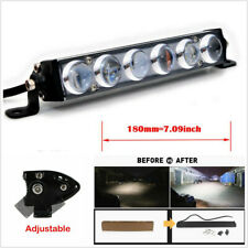 7inch 60W Single Slim Led work Light Bar Spot Flood Offroad SUV TRUCK 4WD 4X4