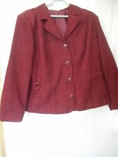 Lined Purple Blazer Jacket Womans Plus Size 18 / 20  Dress Barn