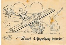 NR.33749 Jux PK A Flugprüfung bestanden 1940 Flugzeugführer nach Schörfling