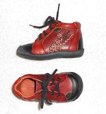 GBB chaussures garçon ou fille cuir rouge brique P 19 TBE