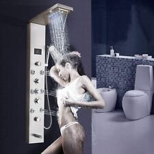 ELLO&ALLO Shower Panel Tower System LED Rainfall Waterfall Shower with Body Jets