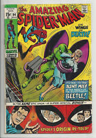 AMAZING SPIDER-MAN #94 BEATLE APPEARANCE ORIGIN RETOLD Marvel 1971 VG VG+
