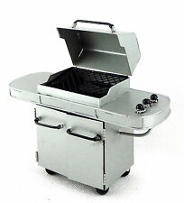 Melody Jane Dolls House Deluxe Silver BBQ Barbecue Grill 1:12 Garden Furniture